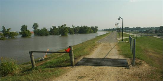 Mississippi River Levee in Baton Rouge
